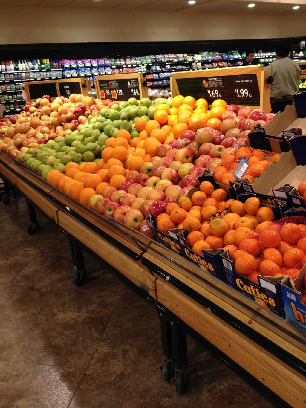 The produce at Lunds.