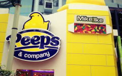 The Peeps store at the Mall of America is located near Nickelodeon Universe.