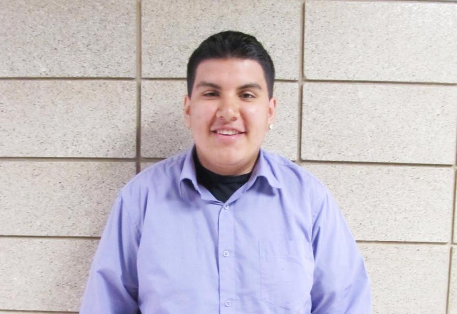 EHS junior Angel Herrera poses for a photo.