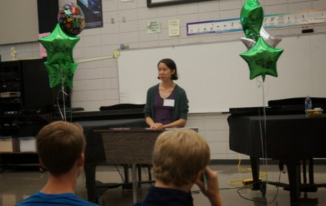 Eleanor Glewwe visited Edina High School to promote her new book