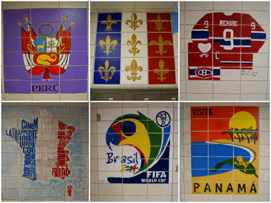 The murals located in the World Language hallways of EHS are pictured.