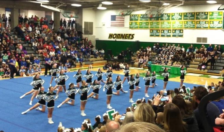 The Edina team performs at the Sweetheart Classic on Jan. 10th, 2015.