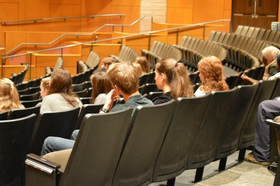 Students listening intently at a Collaborative Time forum
