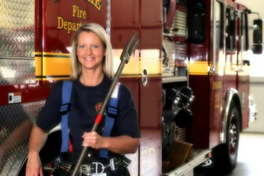 Ms. Russel on the job at the Eden Prairie Fire Department