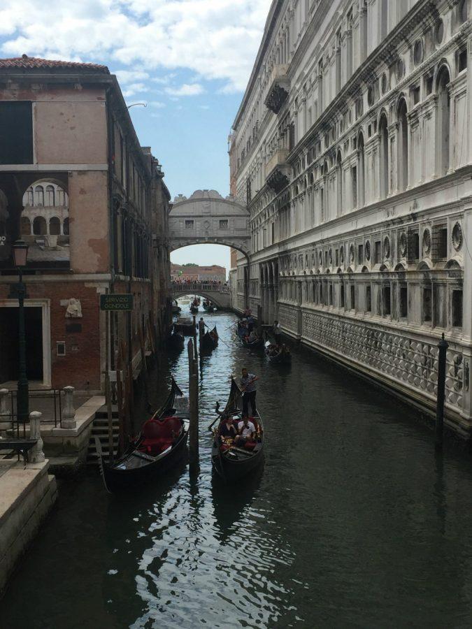 a venetian canal in august