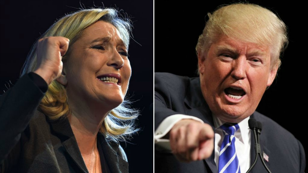French Presidential Candidate Marine Le Pen and US President Donald Trump