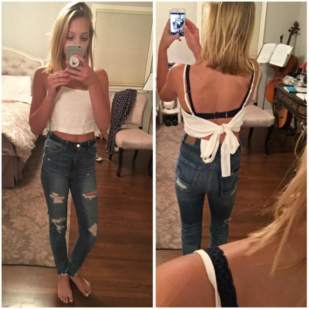 The outfit Zoe Langsev wore on the day she was dress coded