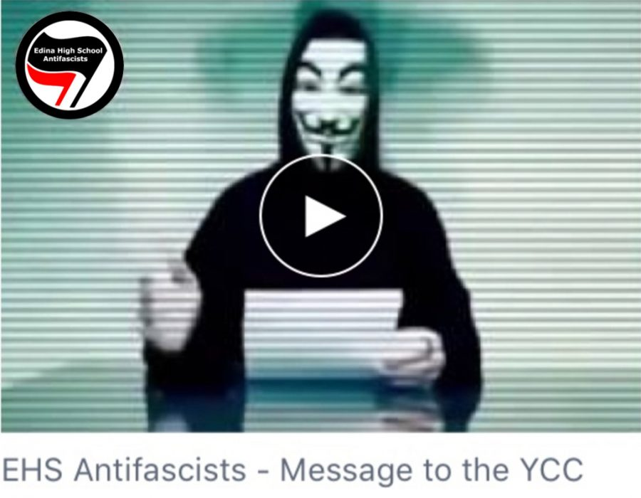 EHS+Antifascists+posted+a+video+message+to+the+Young+Conservatives+Club+on+Nov.+13.