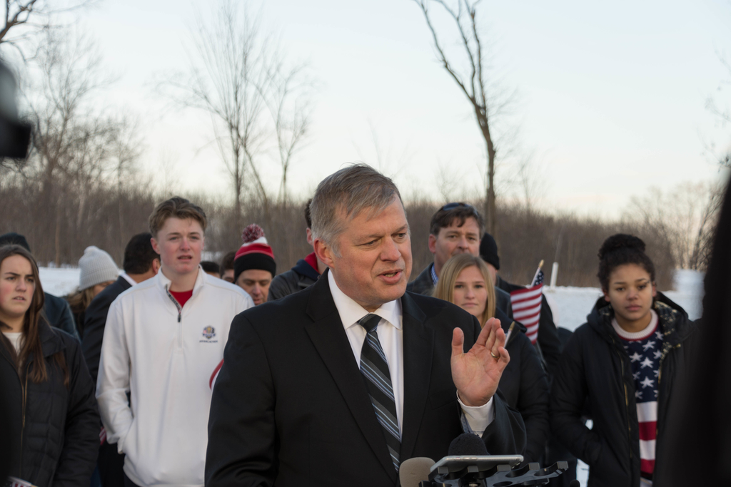 Edina Young Conservatives Club's lawyer Erick Kaardal announced the filing of the lawsuit at press conference on Dec. 7.