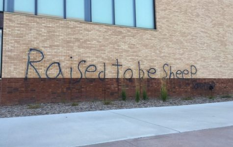 EHS main entrances covered with graffiti protests
