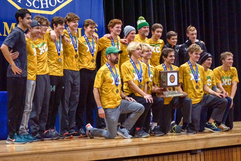 Boys' Cross Country wins State competition