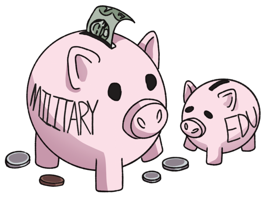 Military spending should be rebudgeted