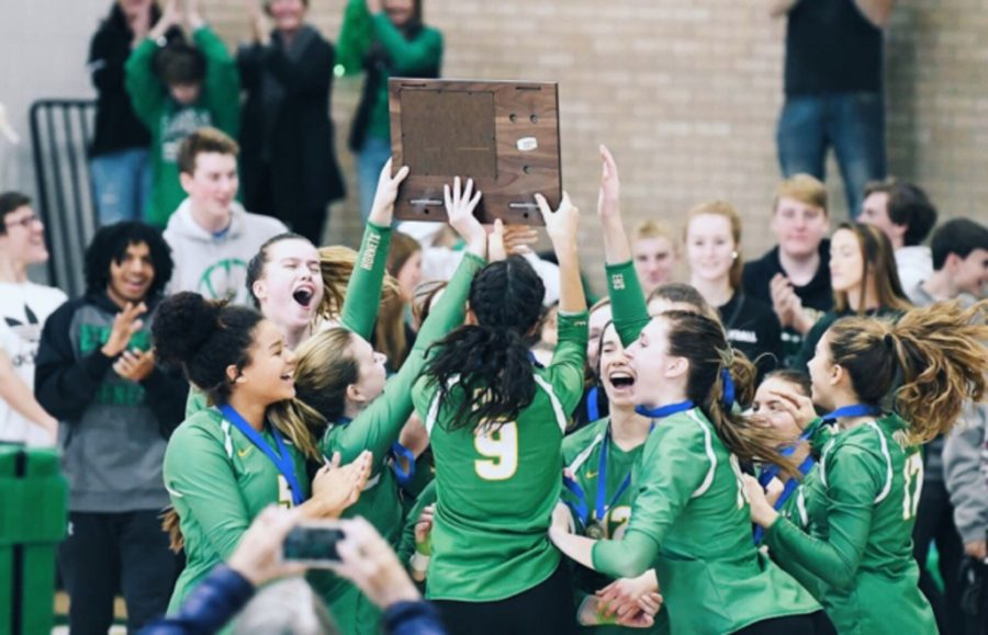 Girls' Varsity Volleyball makes historic advancement to state