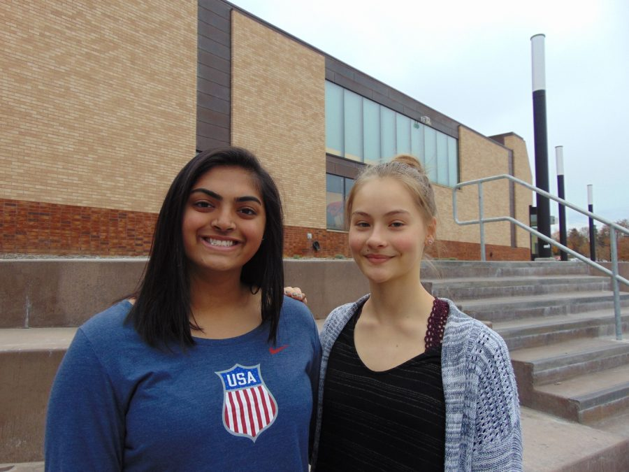Aleena Punjwani (left) and Maria Linder (right) encourage students of all backgrounds to join their club in order to learn about Russian culture.