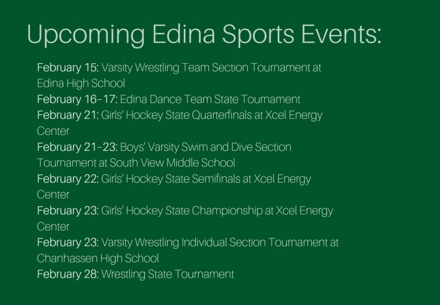 EHS Athletics events for you to attend this February