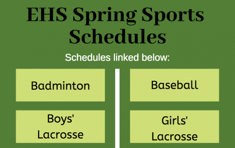 EHS spring sports schedules