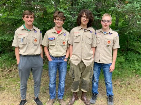 Serving their community: Eagle Scouts fly