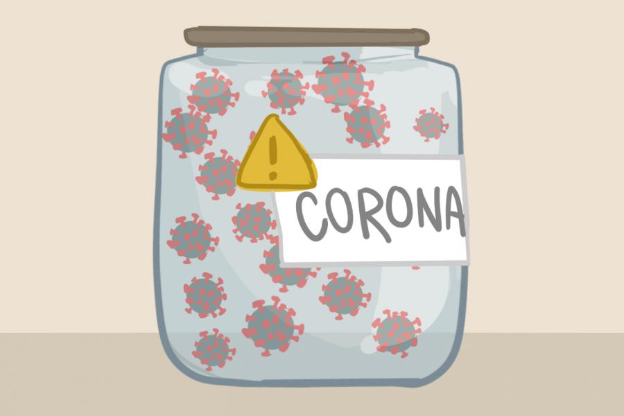 corona jar.tiffany
