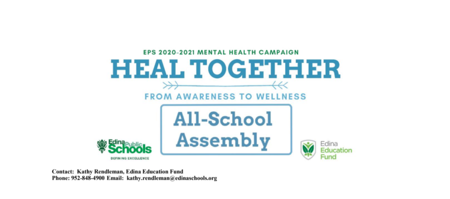 Press release: Edina Public Schools heal together all-school assembly to address mental health