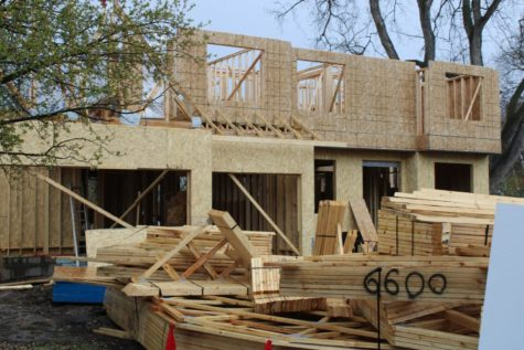 Hard hats on: Edina residence constructed near the high school.