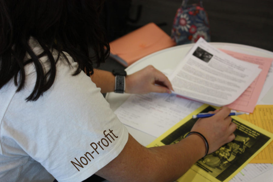 A student immerses themselves in their